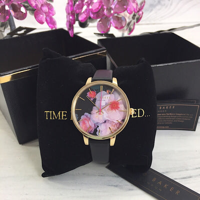 Ted Baker TEC0025019 Ladies Flower Dial Leather Band Watch - Deluge Sales