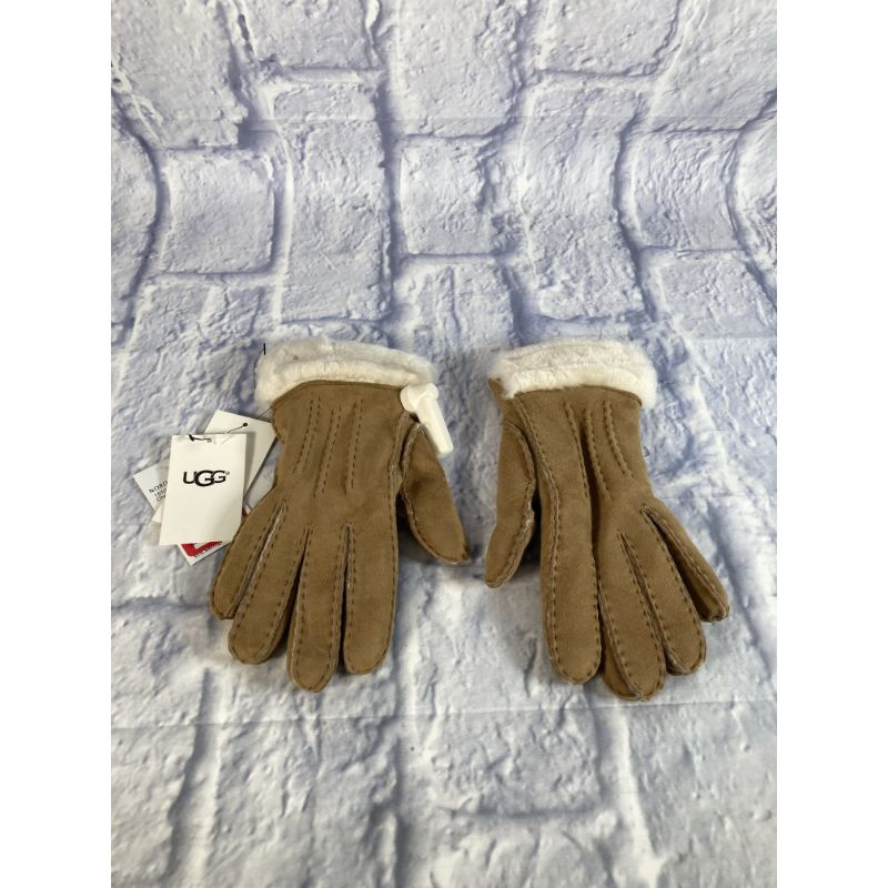 Ugg Classic Tasman Genuine Shearling Gloves Chestnut Size S