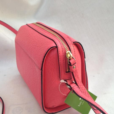Kate Spade Looloo Small Perry Lane Peony Empire Red Leather Cross Body Bag