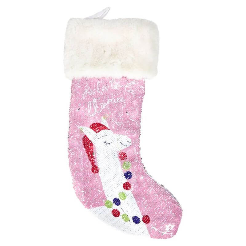 Two's Company Cupcakes & Cartwheels  Holiday Magic Sequin Stocking - Deluge Sales