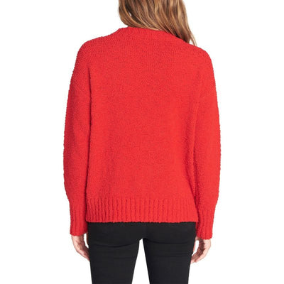 Sanctuary Women's Sweater Red Size M Crewneck Textured Knit