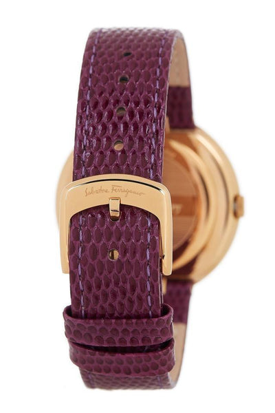 SALVATORE FERRAGAMO FF5930015 Gancino Swiss Quartz Purple Watch - Deluge Sales