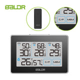 BALDR WS0317BL3 Digital Wireless Weather Station | Accurate Humidity Gauge & Temperature Tracking - Monitor 4 Locations - Includes 3 Remote Sensors