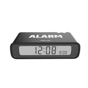 BALDR CL0346 Digital Alarm Clock, Flip Snooze Off, Large LCD Screen, Big Time Display, Table Travel Clock
