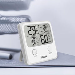 Digital Thermo-Hygrometer Square Thermometer White - BALDR Electronic