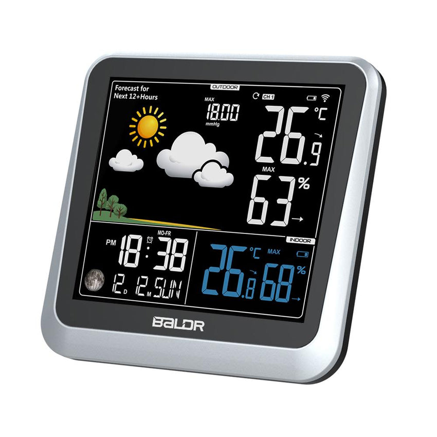 BALDR Color Digital Wireless Indoor/Outdoor Weather Station with Thermometer & Hygrometer