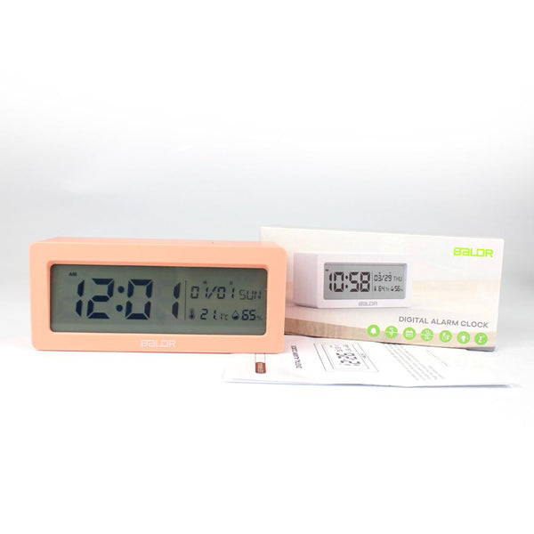 Digital Alarm Clock Large LCD Screen Big Time Display Table Travel Clock