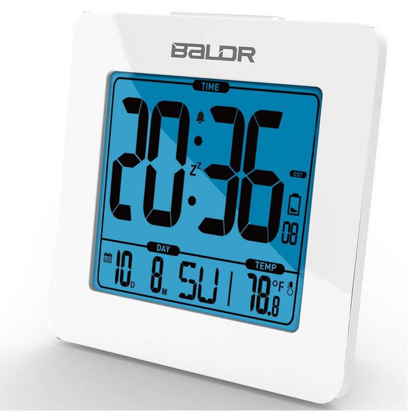 Square Desk Alarm Clock Color White - BALDR Electronic