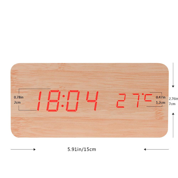 Sound Control Wooden Clock - BALDR Electronic