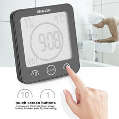 Waterproof Shower Clock for Bathroom with Timer