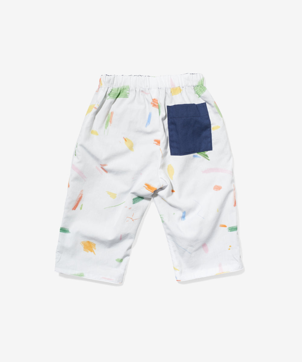 Reversible Baby Pant, Doodle