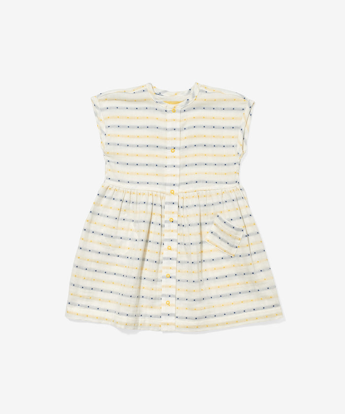 Bianca Dress, Yellow Stripe