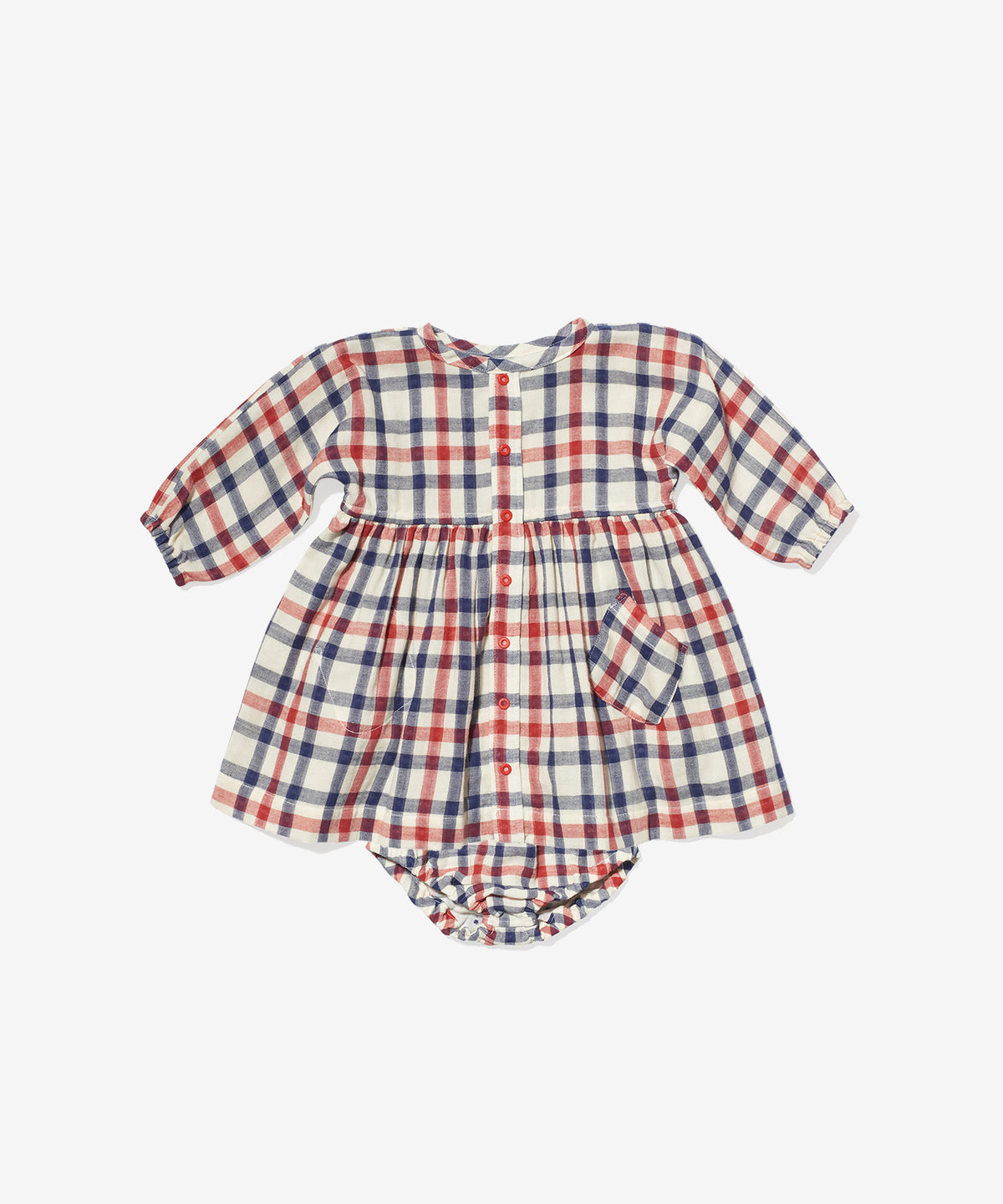 Cecil Baby Dress, Red