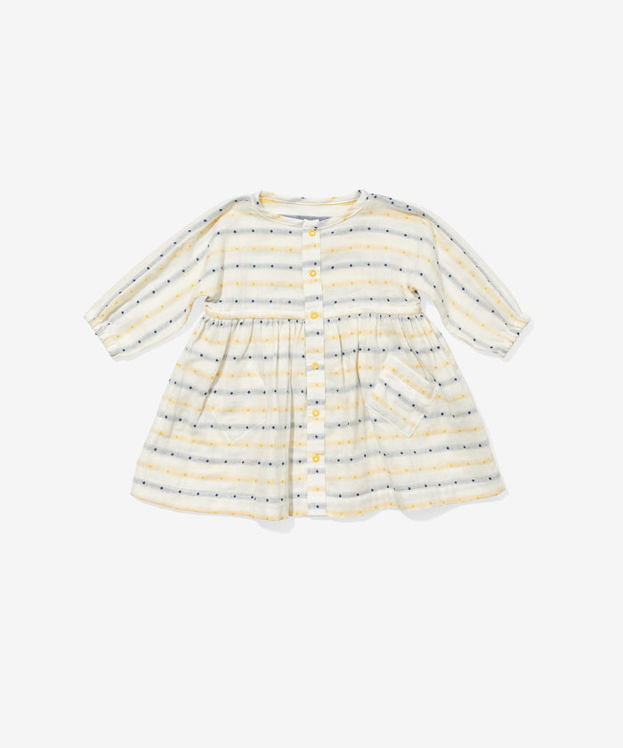 Cecil Baby Dress, Yellow Stripe