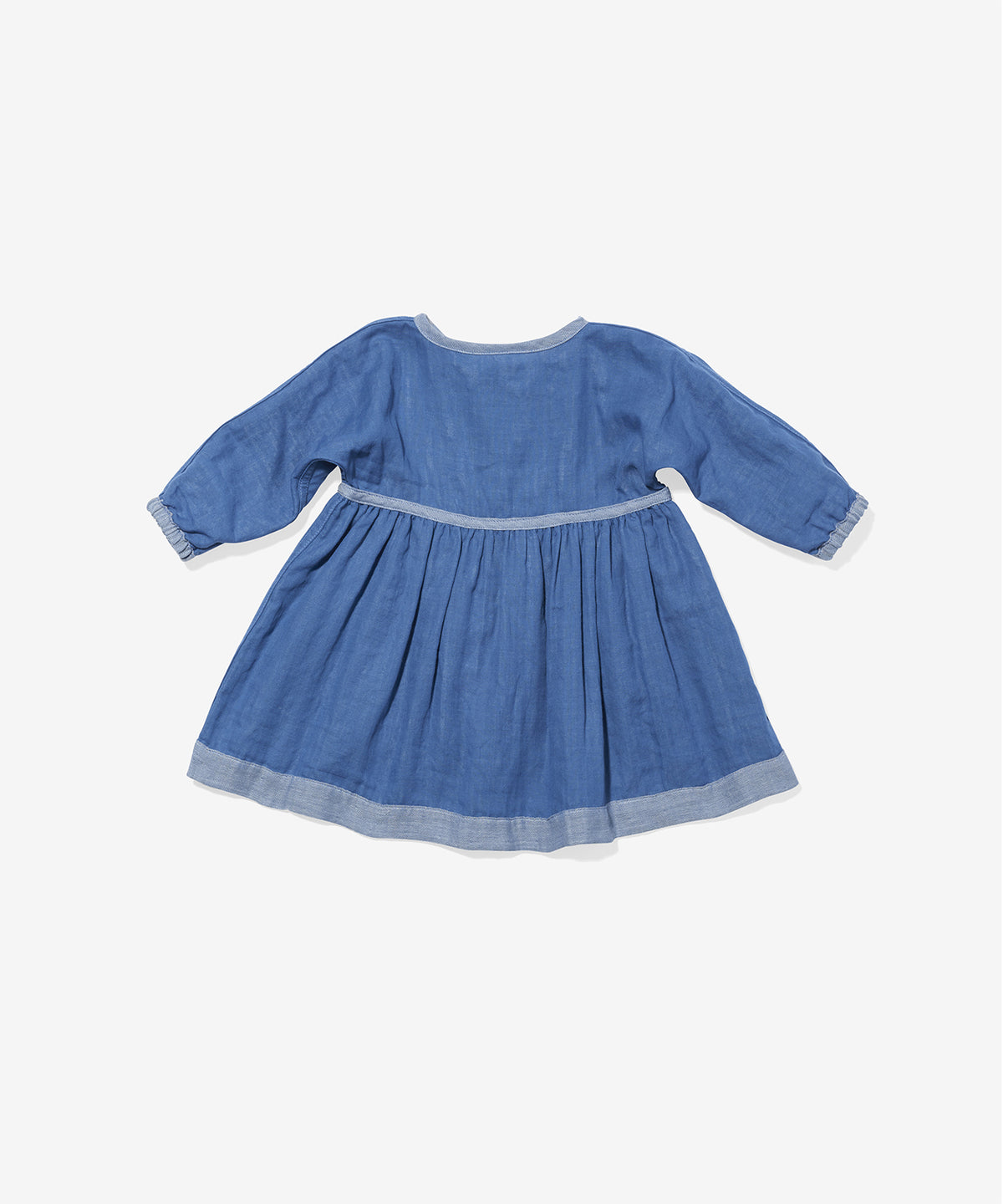 Cecil Baby Dress, Blue Herringbone