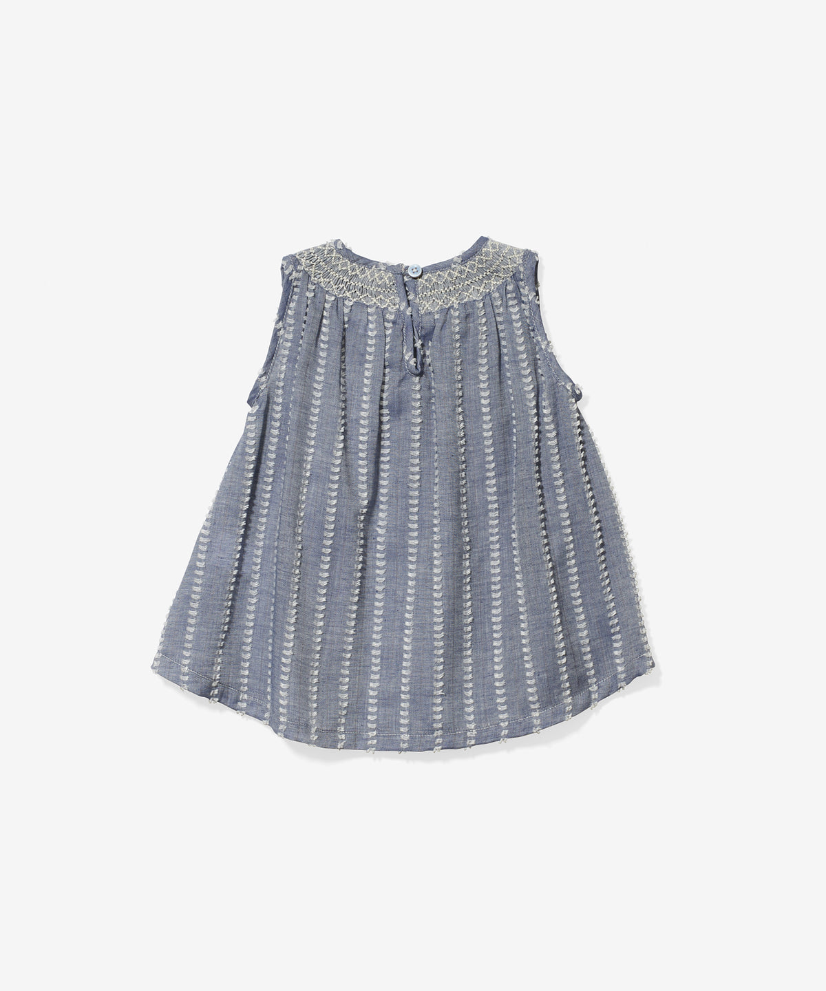 Dot Baby Dress, Clipped Chambray