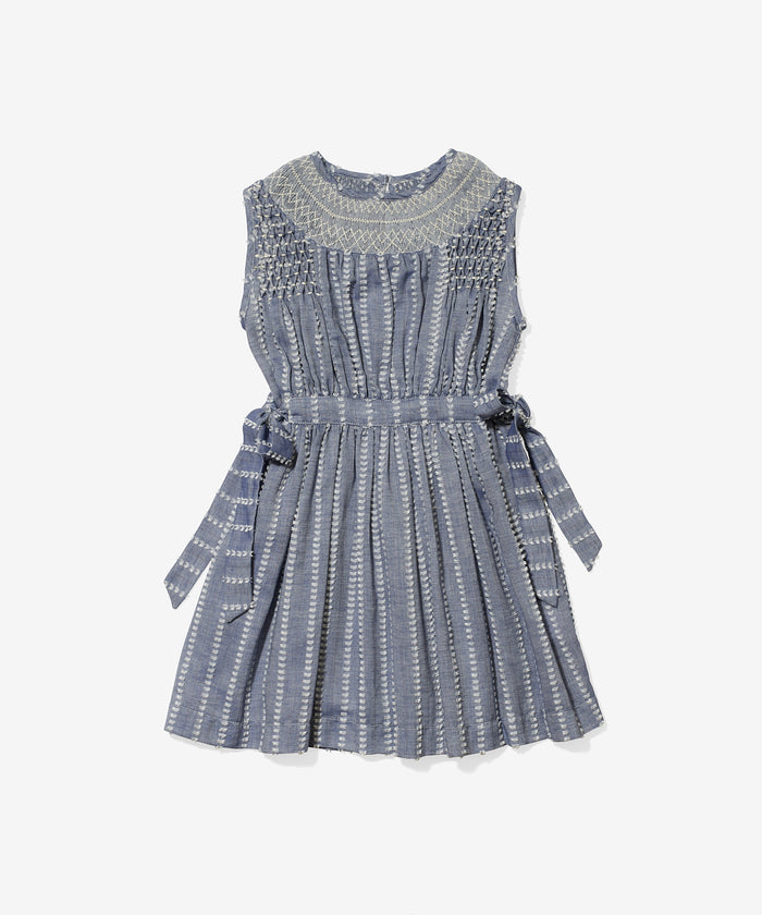 Dot Dress, Clipped Chambray