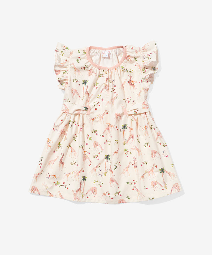 Edie Dress, Strawberry Giraffe