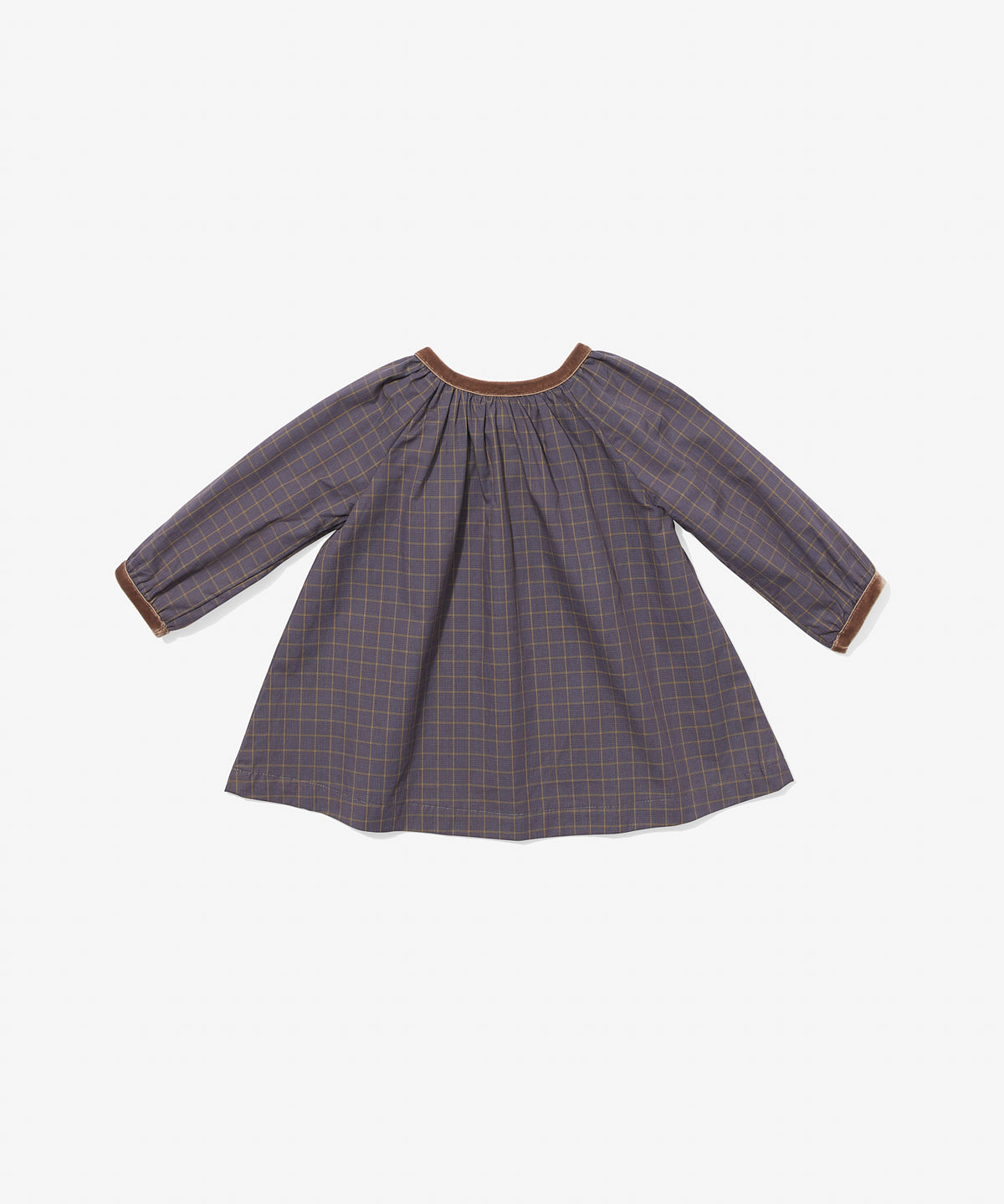 Elizabeth Baby Dress, Heather Plaid