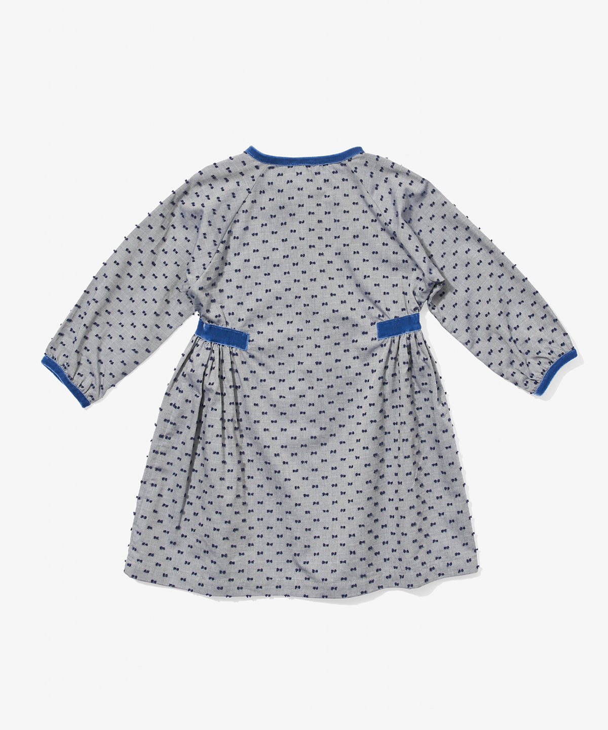 Elizabeth Dress, Navy Swiss Dot