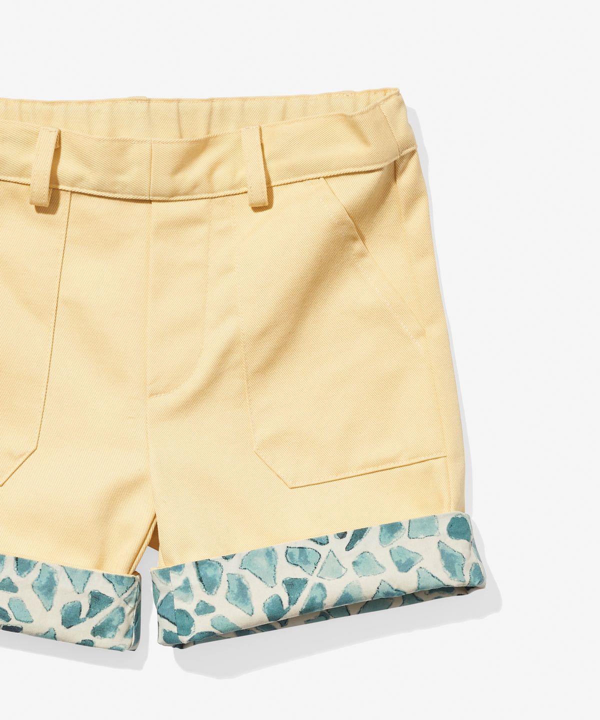 Faux Short, Yellow/Spots
