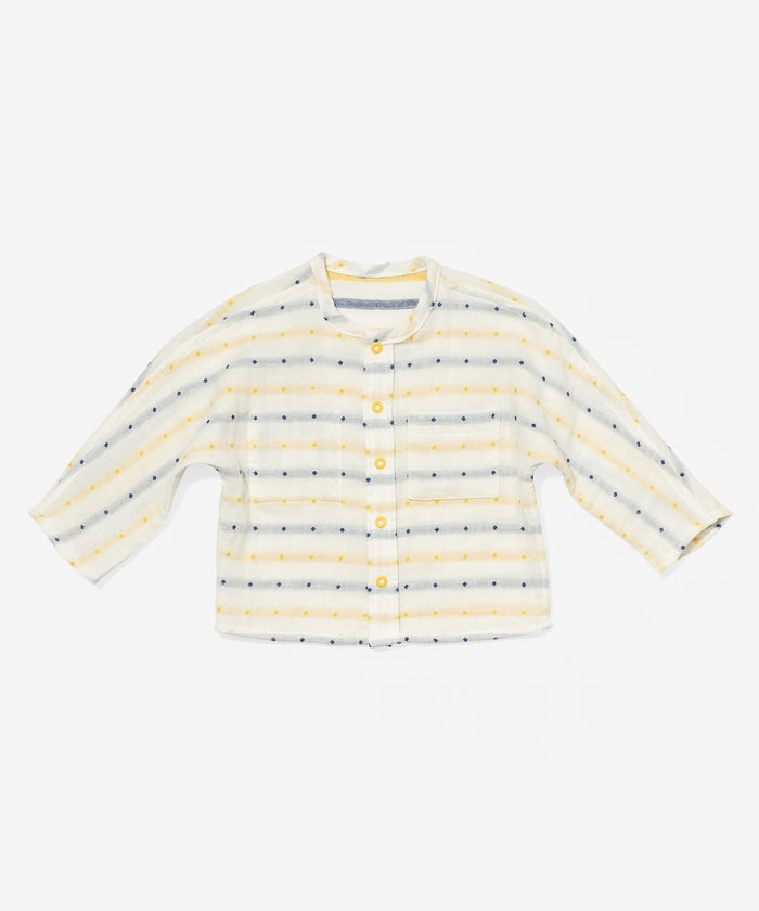Jack Lee Baby Shirt, Yellow Stripe
