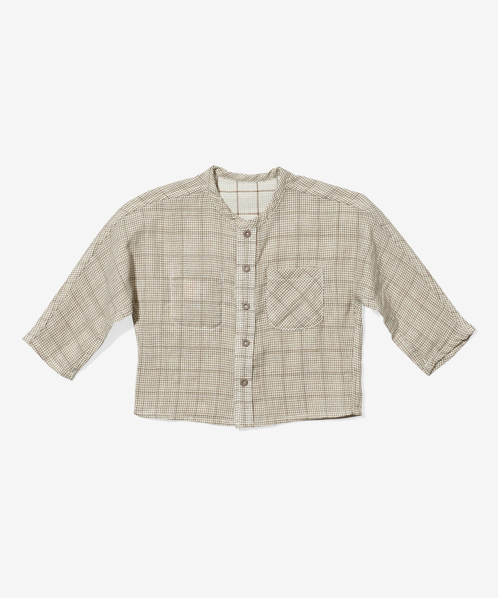 Jack Lee Baby Shirt, Tan Plaid