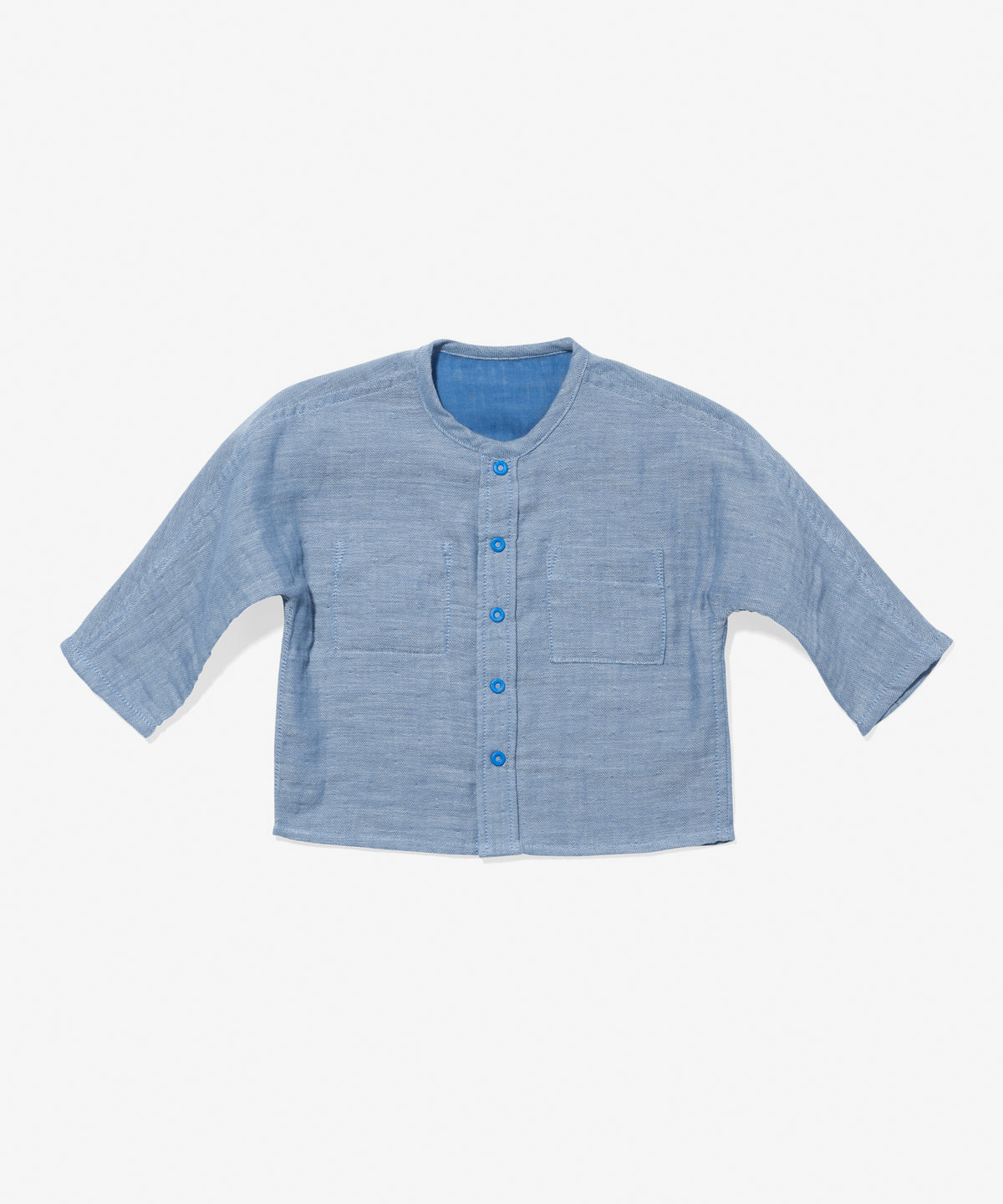 Jack Lee Baby Shirt, Blue Herringbone