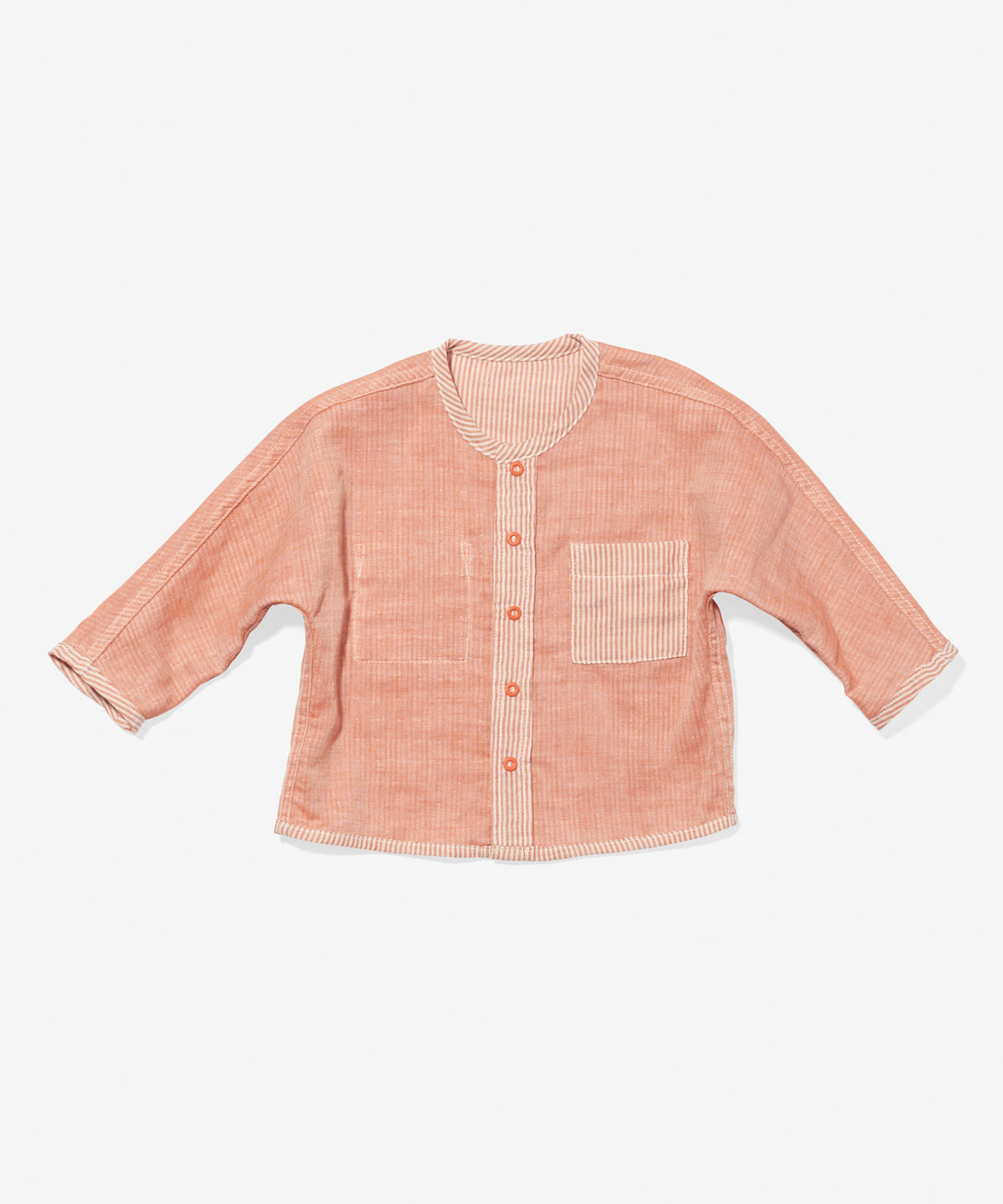 Jack Lee Baby Shirt, Melon Stripe