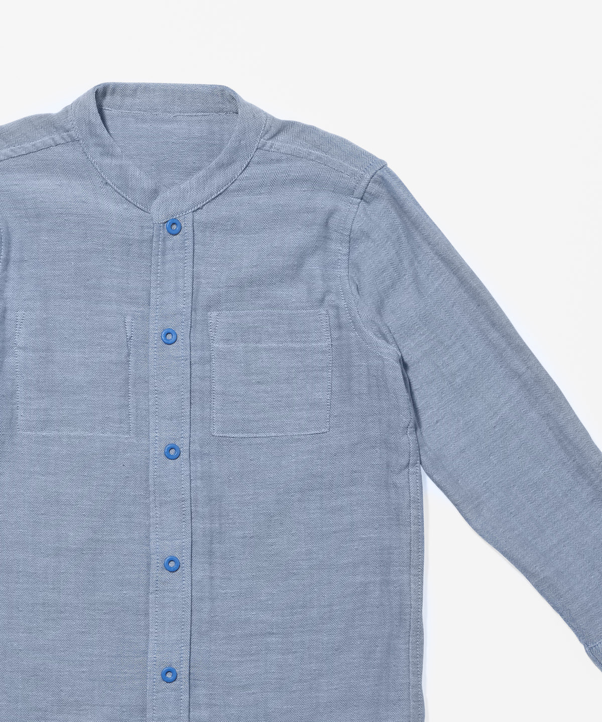 Jack Lee Shirt, Blue Herringbone