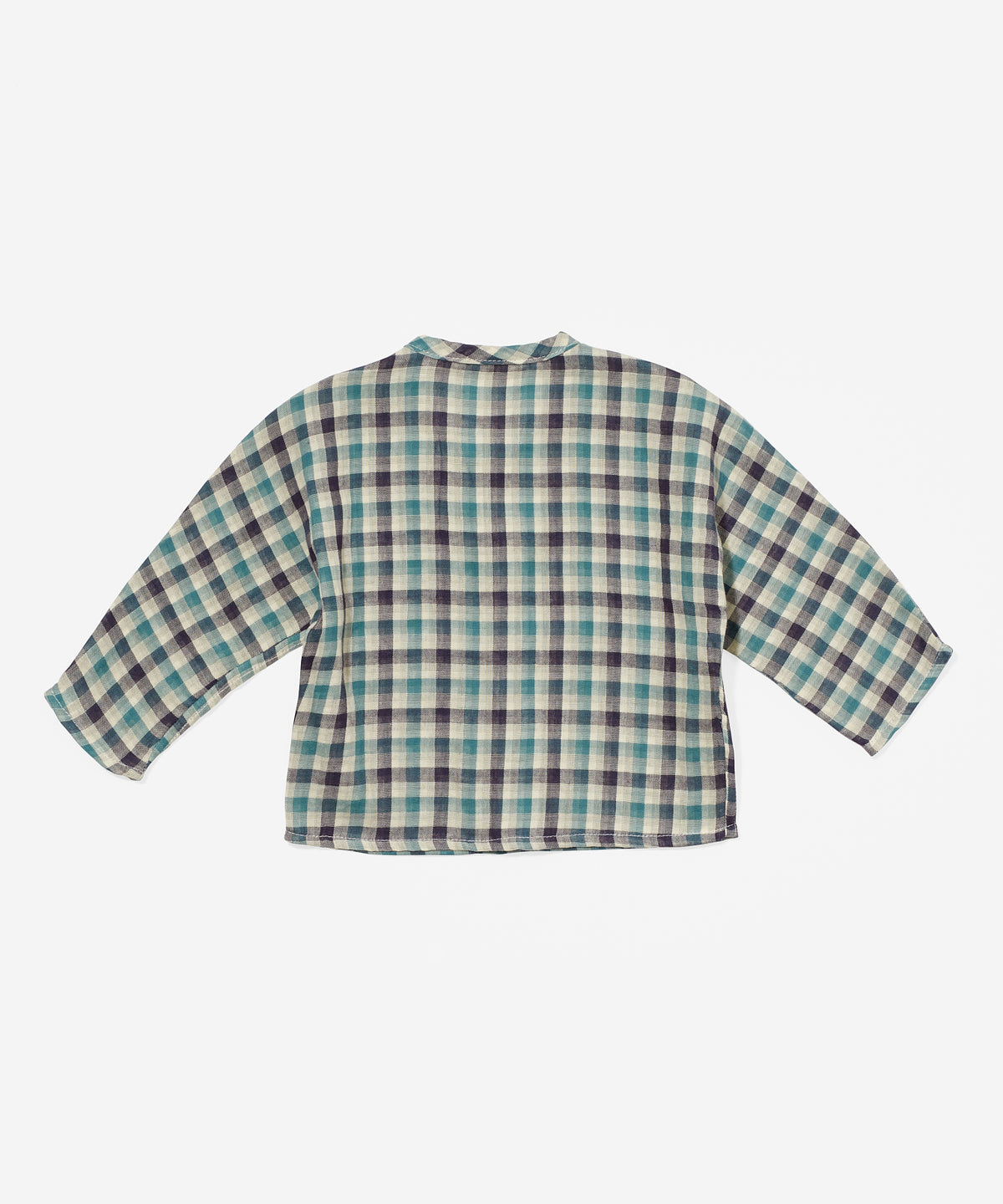 Jack Lee Baby Shirt, Teal Plaid