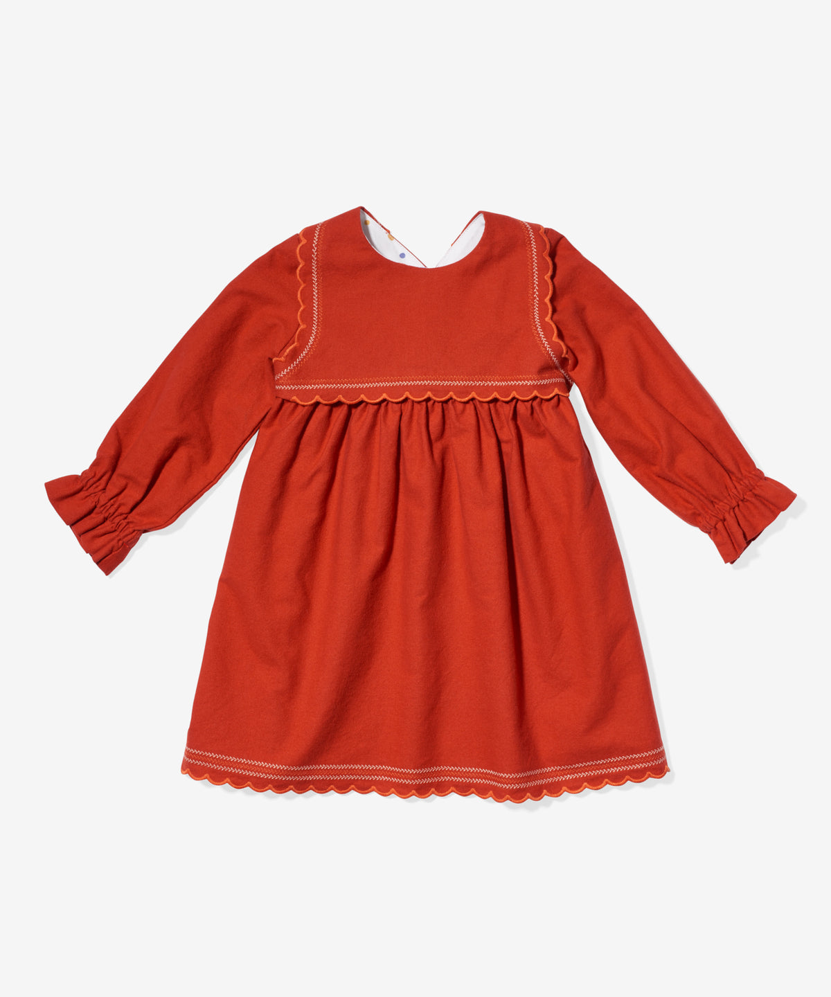 Liza Dress, Red Flannel