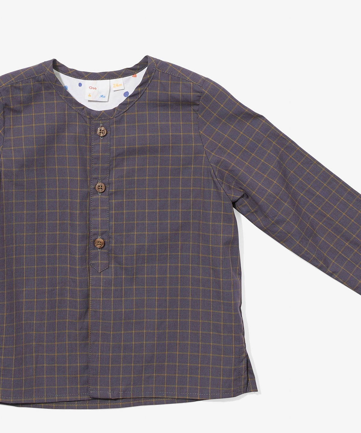 Lupo Baby Shirt, Heather Plaid