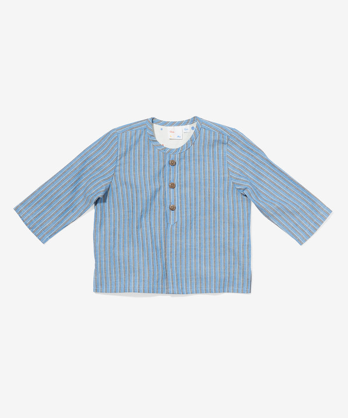 Quinn Shirt, Blue Stripe