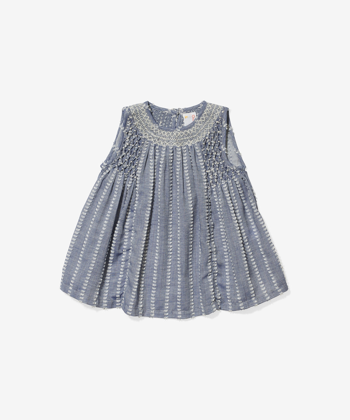 Nora Baby Dress, Clipped Chambray