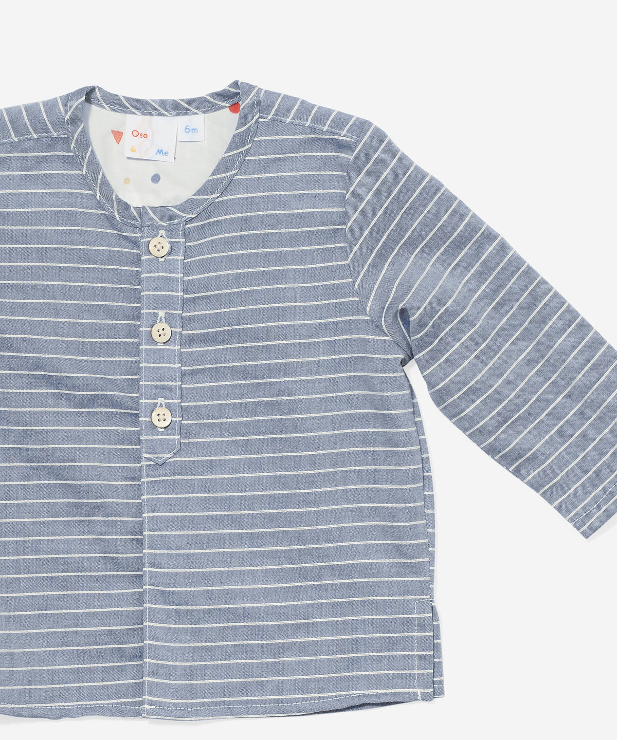 Lupo Baby Shirt, Chambray Stripe