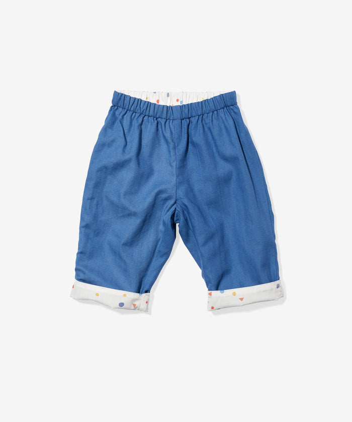 Reversible Baby Pant, Blue