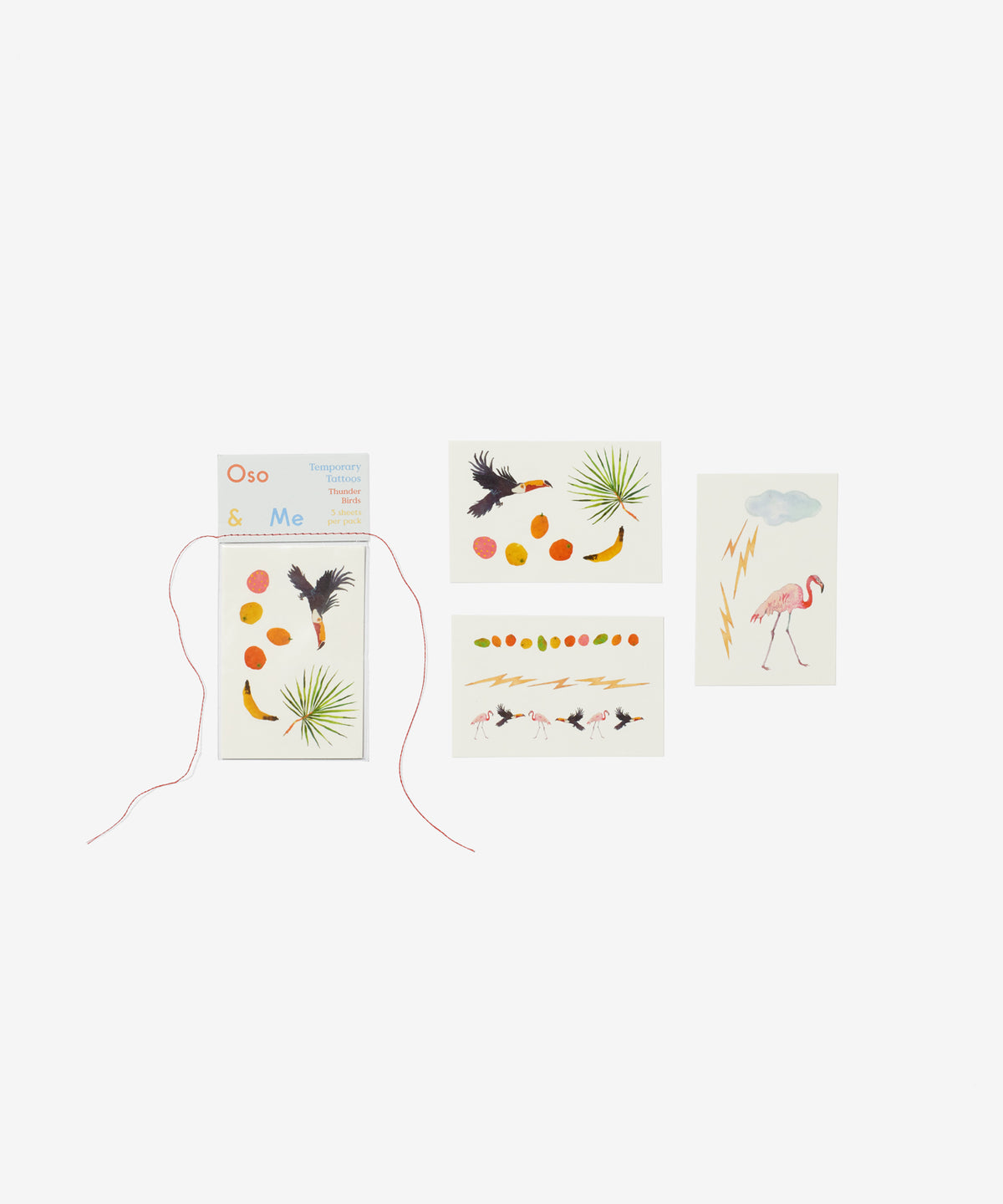 Temporary Tattoo Set, Thunder Birds