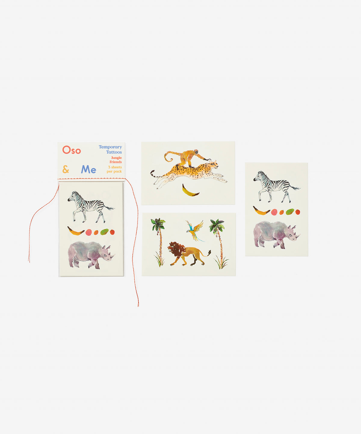 Temporary Tattoo Set, Jungle Friends
