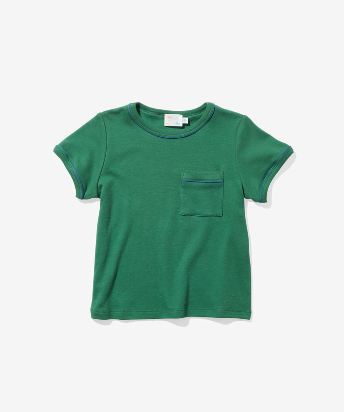 Piped T-Shirt, Green