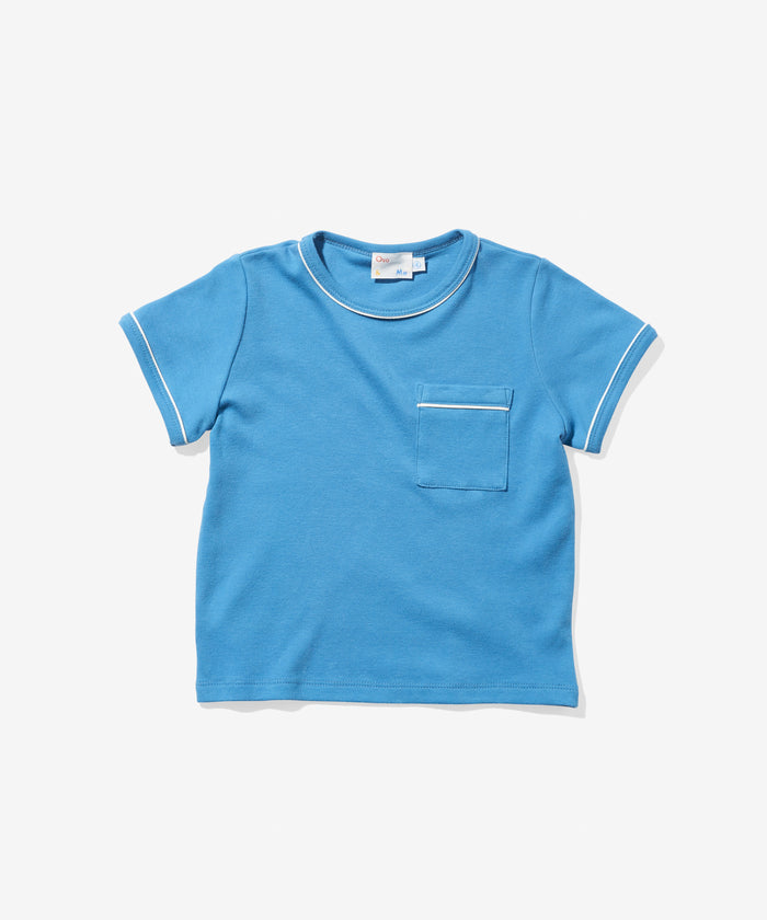 Piped T-Shirt, Blue