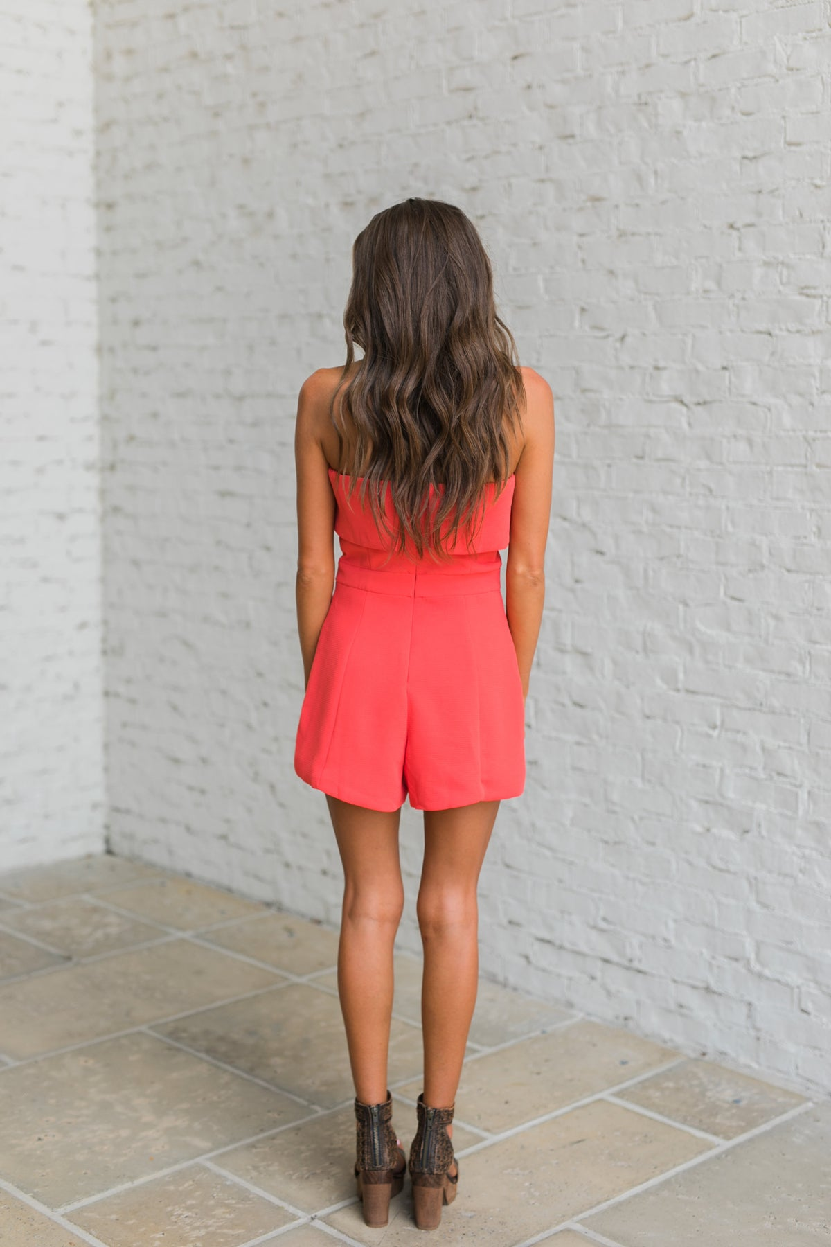 Look My Way Romper-Poppy