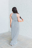 Take It Easy Maxi Dress-White/Black