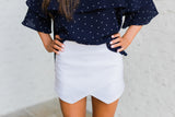 Envelope Shorts-Ivory