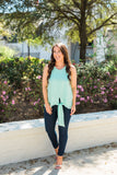Knot Your Basic Tank - Mint