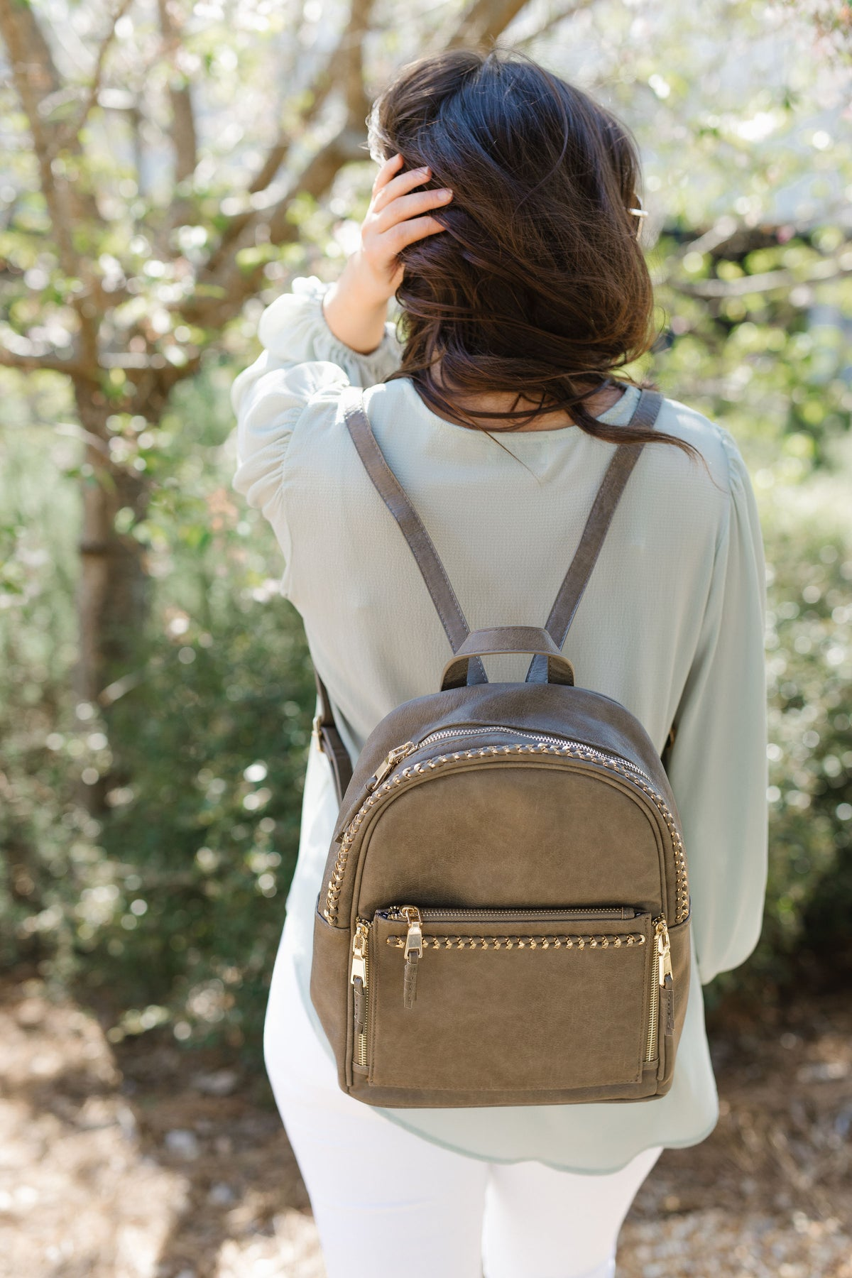 On The Move Backpack - Dark Taupe