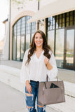 Oh So Chic Ballon Sleeve Blouse - Ivory