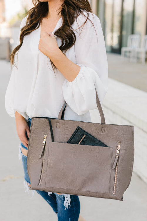 Bring It All Tote - Grey/Black