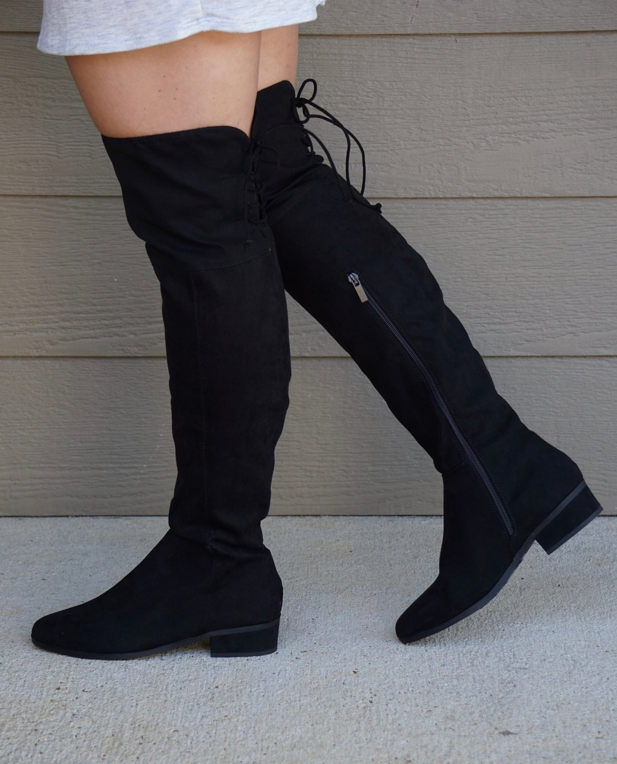 All You Ever Need Suede Boot-Black