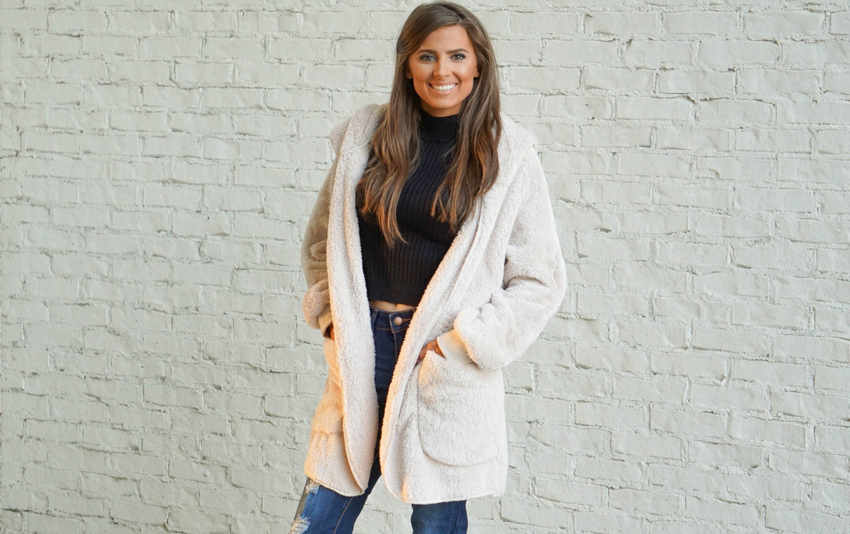Taupe Furry Jacket